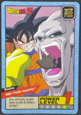 trading card game fr carte dragon ball z Carddass Le Grand Combat Part 4 n°605 (1996) Bandai Songoku majin boo buu dbz Cardamehdz