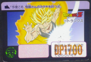 trading card game jcc carte dragon ball z Carddass Part 16 n°508 (1993) bandai trunks dbz cardamehdz