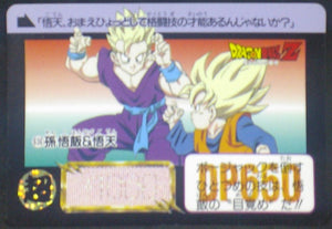 trading card game jcc carte dragon ball z Carddass Part 16 n°636 (1993) bandai songohan songoten dbz cardamehdz