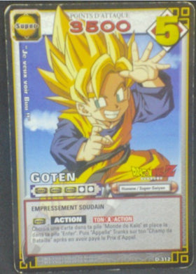 trading card game jcc carte dragon ball z Cartes à jouer et à collectionner (JCC) Part 3 D-312 bandai songoten dbz 2006