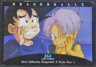 trading card game jcc carte dragon ball z Hero Collection Part 3 n°263 (1995) Amada Trunks Songoten Dbz