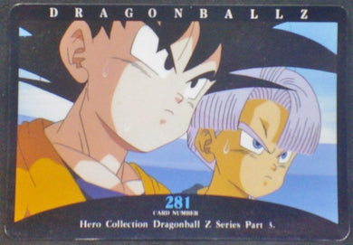 trading card game jcc carte dragon ball z Hero Collection Part 3 n°281 (1995) Amada Songoten Trunks Dbz