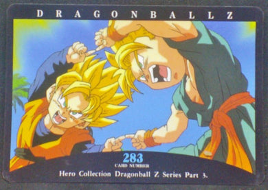 trading card game jcc carte dragon ball z Hero Collection Part 3 n°283 (1995) Amada Songoten Trunks Dbz