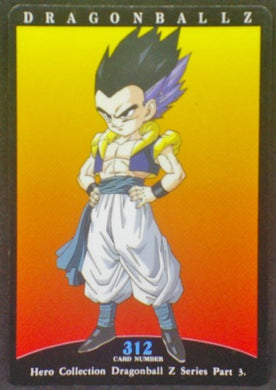 trading card game jcc carte dragon ball z Hero Collection Part 3 n°312 (1995) Amada Gotenks Dbz