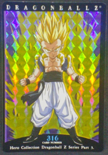 trading card game jcc carte dragon ball z Hero Collection Part 3 n°316 (2001) Amada gotenks dbz