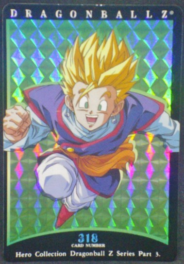 trading card game jcc carte dragon ball z Hero Collection Part 3 n°318 (2001) amada songohan dbz