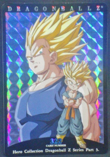 trading card game jcc carte dragon ball z Hero Collection Part 3 n°322 (2001) Amada vegeta trunks dbz