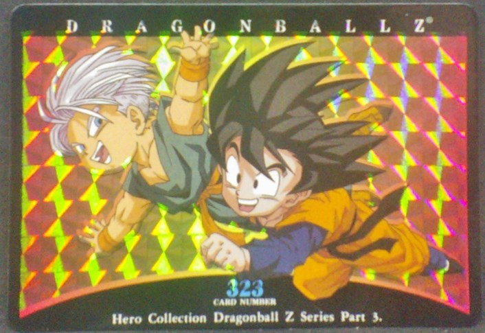 trading card game jcc carte dragon ball z Hero Collection Part 3 n°323 (2001) amada songoten trunks dbz
