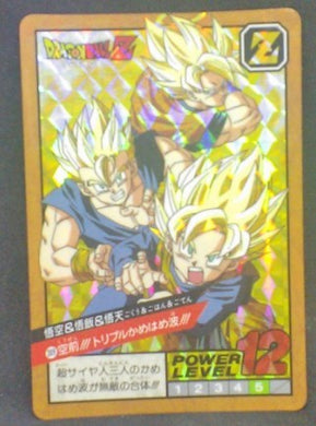 trading card game jcc carte dragon ball z Super Battle Part 8 n°309 (1994) (prisme face b) bandai songoku songohan songoten dbz prisme cardamehdz