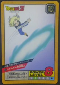 carte dragon ball z Super Battle Part 9 n°367 (1994) bandai c-18 dbz