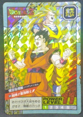 trading card game jcc carte dragon ball z Super Battle part 15 n°639 (1995) (double prisme) bandai songoku songohan dbz cardamehdz