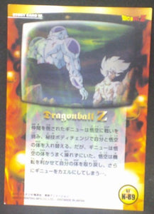 tcg jcc carte dragon ball z Trading card DBZ news Part 2 n°89 (2003) Amada songoku freezer cardamehdz verso