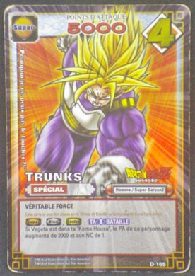 trading card game jcc fr carte dragon ball z carte a jouer et a collectionner (jcc) part 2 D-165 prisme holo trunks dbz cardamehdz