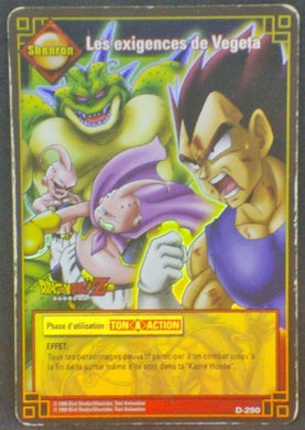 trading card game jcc fr carte dragon ball z carte a jouer et a collectionner (jcc) part 3 D-290 prisme holo buu majin buu porunga vegeta dbz cardamehdz
