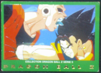 trading card game carte dragon ball z française panini serie 5 n°10 majin boo vs vegeto