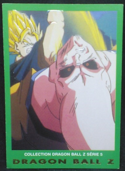 trading card game carte dragon ball z française panini serie 5 n°15 majin boo vs vegeto
