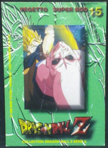 trading card game carte dragon ball z française panini serie 5 n°15 majin boo vs vegeto verso