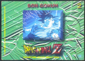 trading card game carte dragon ball z française panini serie 5 n°2 songoku verso