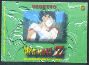 trading card game carte dragon ball z française panini serie 5 n°6 vegeto verso