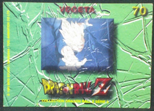 trading card game carte dragon ball z française panini serie 5 n°70 vegeta verso