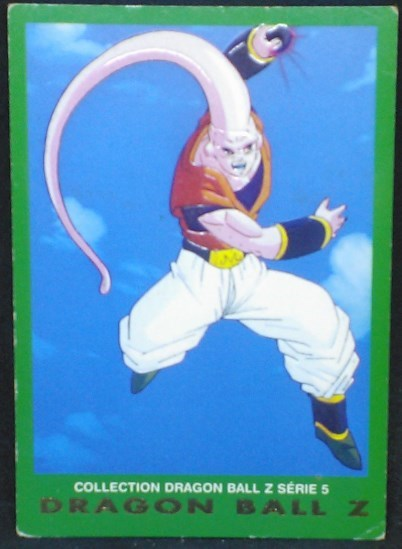 trading card game carte dragon ball z française panini serie 5 n°7 majin buu