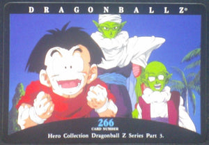 tcg jcc carte dragon ball z hero collection part 3 n°266 (2001) amada krilin piccolo dendé dbz cardamehdz