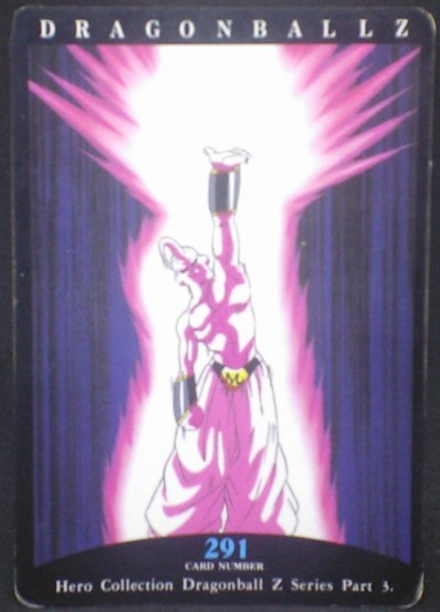 tcg jcc carte dragon ball z hero collection part 3 n°291 (1995) amada majin boo dbz cardamehdz