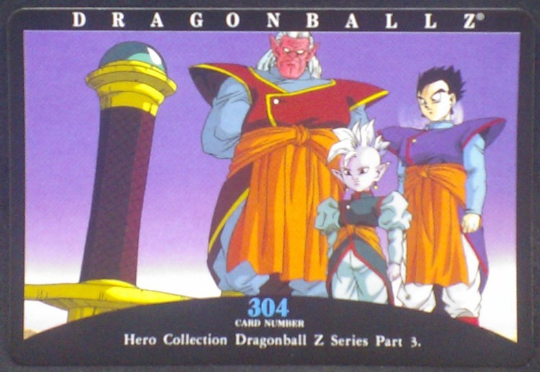 tcg jcc carte dragon ball z hero collection part 3 n°304 (2001) amada songohan kibito kaiohshin de l'est dbz cardamehdz