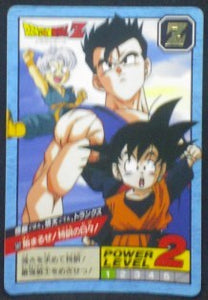 carte dragon ball z super battle power level part 14 n°582 bandai 1995 songohan songoten trunks