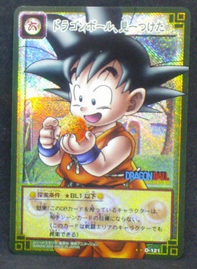 carte dragon ball z Card Game Part 1 n°D-121 (prisme version booster) (2003) bandai songoku dbz cardamehdz