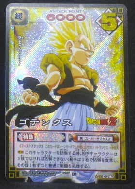 carte dragon ball z Card Game Part 3 n°D-240 (2004) (prisme version booster) bandai gotenks dbz cardamehdz