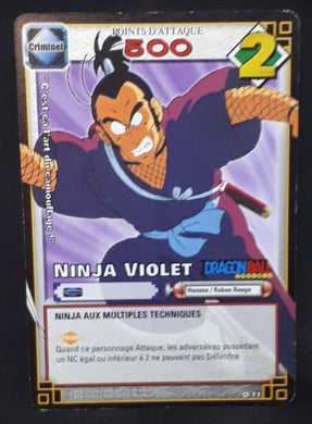 carte dragon ball z Cartes À Jouer Et À Collectionner (JCC) Part 1 n°D-11 (2005) bandai ninja violet dbz cardamehdz