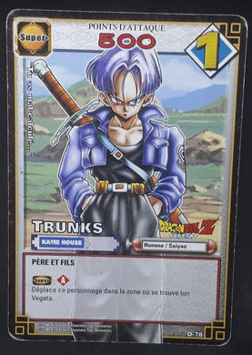 carte dragon ball z Cartes À Jouer Et À Collectionner (JCC) Part 1 n°D-78 (2005) bandai trunks dbz cardamehdz