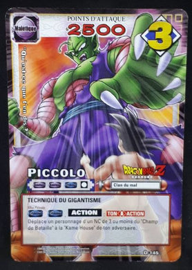 carte dragon ball z Cartes À Jouer Et À Collectionner (JCC) Part 2 n°D-145 (2006) bandai piccolo dbz cardamehdz
