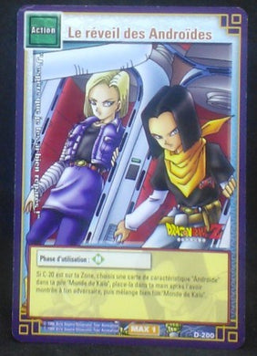 carte dragon ball z Cartes à jouer et à collectionner (JCC) Part 2 D-200 (2006) bandai cyborg 17 et android 18 dbz cardamehdz