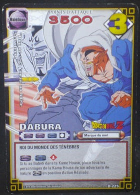carte dragon ball z Cartes à jouer et à collectionner (JCC) Part 2 D-225 (2006) bandai dabura dbz cardamehdz