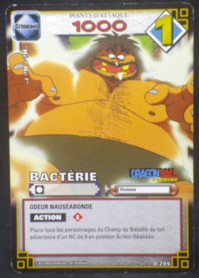 carte dragon ball z Cartes à jouer et à collectionner (JCC) Part 2 D-295 (2006) bandai bacterie dbz cardamehdz