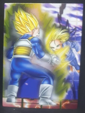 carte dragon ball z Collection Card Gum Part 4 SP n°43 (2006) Ensky vegeta vs android n°18 dbz cardamehdz