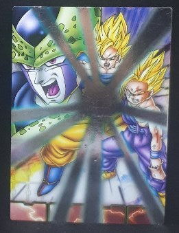 carte dragon ball z Collection Card Gum Part 4 SP n°46 (2006) Ensky cell vs songohan songoku dbz cardamehdz