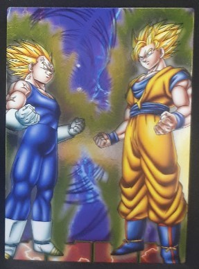carte dragon ball z Collection Card Gum Part 4 SP n°47 (2006) Ensky vegeta vs songoku dbz cardamehdz