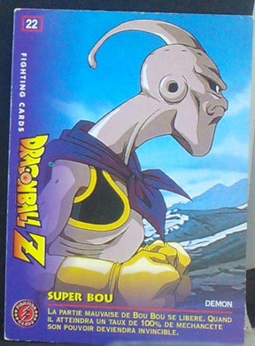carte dragon ball z Fighting Cards n°22 (1999) Panini majin bou cardamehdz