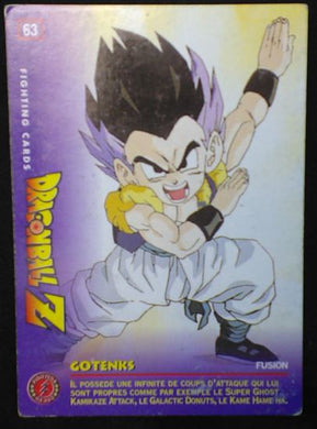 carte dragon ball z Fighting Cards n°63 (1999) panini gotenks dbz cardamehdz