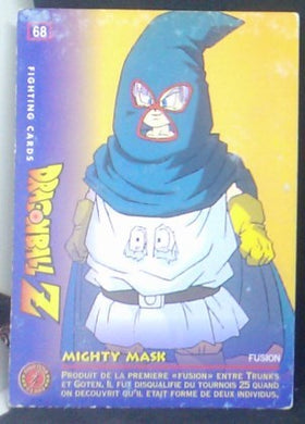 carte dragon ball z Fighting Cards n°68 (1999) Panini mighty mask cardamehdz