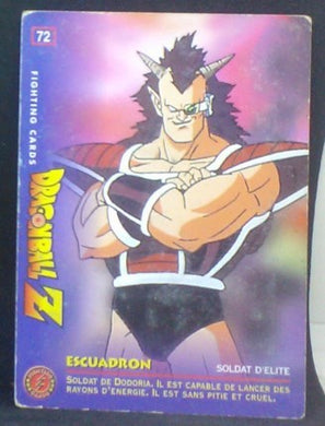 carte dragon ball z Fighting Cards n°72 (1999) Panini soldat de freezer cardamehdz