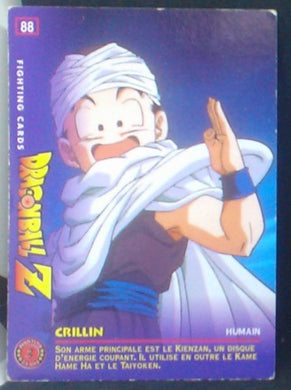 carte dragon ball z Fighting Cards n°88 (1999) Panini krilin cardamehdz