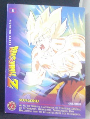 carte dragon ball z Fighting Cards n°8 (1999) Panini songoku cardamehdz