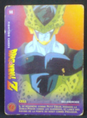 carte dragon ball z Fighting Cards n°98 (1999) Panini cell cardamehdz