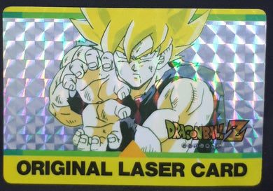 carte dragon ball z Original Laser Card n°4 (1993 Amada songoku dbz prisme soft cardamehdz