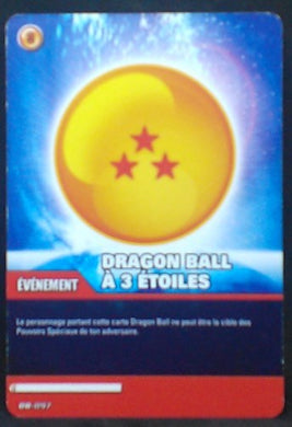 carte dragon ball z Super Cartes À Jouer Et À Collectionner Part 1 n°DB-097 (2009) dragon ball a 3 étoiles bandai cardamehdz