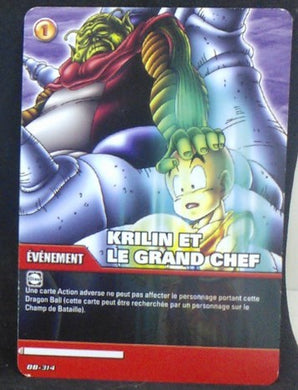 carte dragon ball z Super Cartes À Jouer Et À Collectionner Part 2 n°DB-314 (2009) krilin et le chef namek bandai cardamehdz